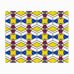 Colorful Rhombus Chains Small Glasses Cloth (2 Sides)