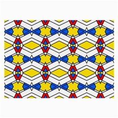 Colorful Rhombus Chains Large Glasses Cloth