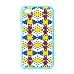 Colorful Rhombus Chains Apple Iphone 4 Case (color)