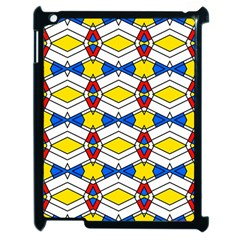 Colorful Rhombus Chains Apple Ipad 2 Case (black)
