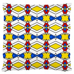 Colorful Rhombus Chains Large Cushion Case (two Sides)