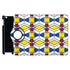 Colorful Rhombus Chains Apple Ipad 3/4 Flip 360 Case