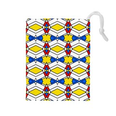 Colorful Rhombus Chains Drawstring Pouch