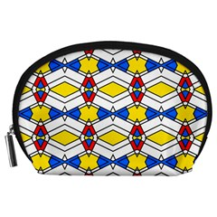 Colorful rhombus chains Accessory Pouch