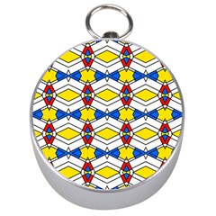 Colorful Rhombus Chains Silver Compass