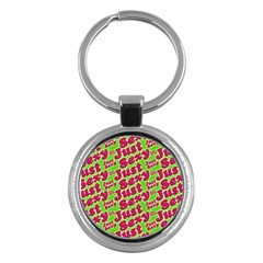 Just Sexy Quote Typographic Pattern Key Chains (round)