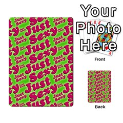 Just Sexy Quote Typographic Pattern Multi Purpose Cards (rectangle)