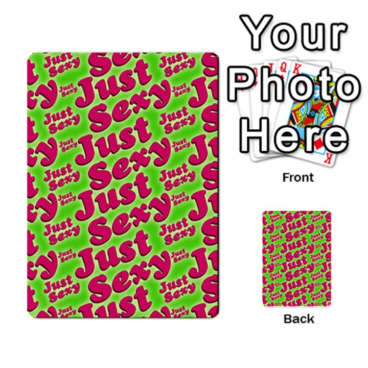 Just Sexy Quote Typographic Pattern Multi-purpose Cards (Rectangle)