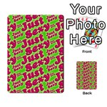 Just Sexy Quote Typographic Pattern Multi-purpose Cards (Rectangle)  Back 27