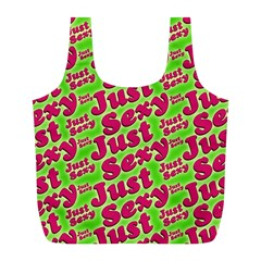 Just Sexy Quote Typographic Pattern Full Print Recycle Bags (l)
