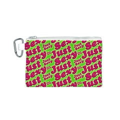 Just Sexy Quote Typographic Pattern Canvas Cosmetic Bag (S)