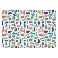 Blue Colorful Cats Silhouettes Pattern Samsung Galaxy Tab 8 9  P7300 Flip Case
