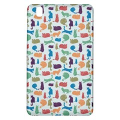 Blue Colorful Cats Silhouettes Pattern Samsung Galaxy Tab Pro 8 4 Hardshell Case
