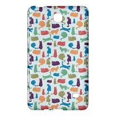 Blue Colorful Cats Silhouettes Pattern Samsung Galaxy Tab 4 (7 ) Hardshell Case