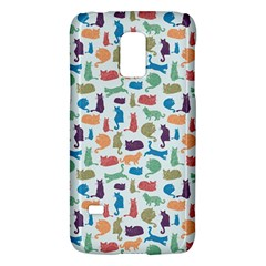 Blue Colorful Cats Silhouettes Pattern Galaxy S5 Mini