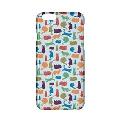 Blue Colorful Cats Silhouettes Pattern Apple iPhone 6 Hardshell Case