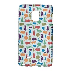 Blue Colorful Cats Silhouettes Pattern Galaxy Note Edge