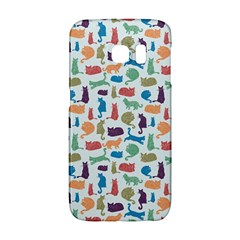 Blue Colorful Cats Silhouettes Pattern Galaxy S6 Edge