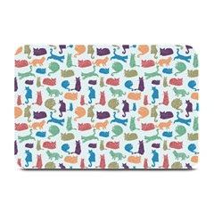 Blue Colorful Cats Silhouettes Pattern Plate Mats
