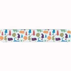 Blue Colorful Cats Silhouettes Pattern Small Bar Mats