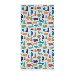 Blue Colorful Cats Silhouettes Pattern Shower Curtain 36  x 72  (Stall)