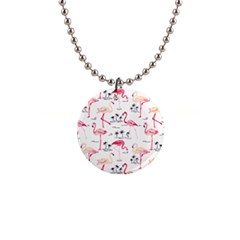 Flamingo Pattern Button Necklaces