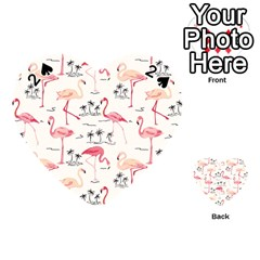 Flamingo Pattern Playing Cards 54 (Heart)