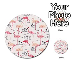 Flamingo Pattern Multi-purpose Cards (Round)