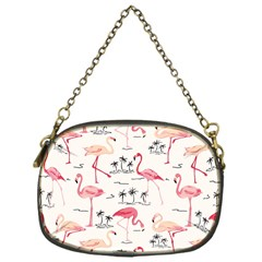 Flamingo Pattern Chain Purses (one Side)