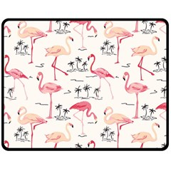 Flamingo Pattern Fleece Blanket (Medium)