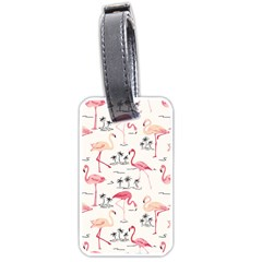 Flamingo Pattern Luggage Tags (two Sides)