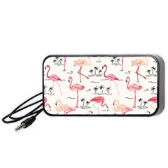 Flamingo Pattern Portable Speaker (Black)