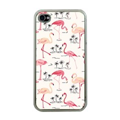 Flamingo Pattern Apple Iphone 4 Case (clear)