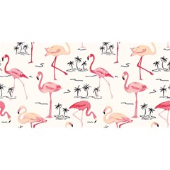 Flamingo Pattern YOU ARE INVITED 3D Greeting Card (8x4)
