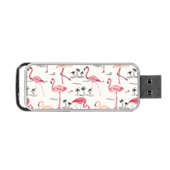 Flamingo Pattern Portable Usb Flash (one Side)