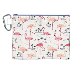 Flamingo Pattern Canvas Cosmetic Bag (XXL)