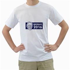 Bernie Sanders 2016 Men s T-Shirt (White) (Two Sided)