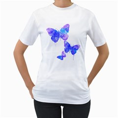 Bfly Women s Two Sided T Shirt (white)