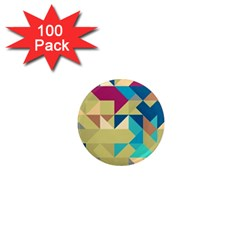 Scattered Pieces In Retro Colors 1  Mini Magnet (100 Pack)