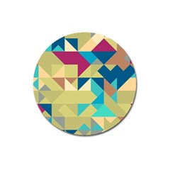 Scattered Pieces In Retro Colors Magnet 3  (round)