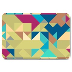 Scattered Pieces In Retro Colors Large Doormat