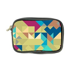 Scattered Pieces In Retro Colors Coin Purse