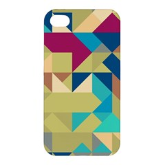 Scattered Pieces In Retro Colors Apple Iphone 4/4s Hardshell Case