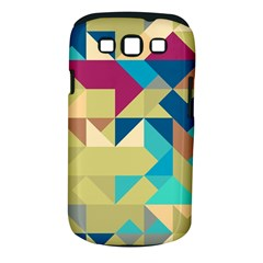 Scattered Pieces In Retro Colors Samsung Galaxy S Iii Classic Hardshell Case (pc+silicone)