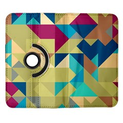 Scattered pieces in retro colors Samsung Galaxy Note II Flip 360 Case