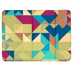Scattered Pieces In Retro Colors Samsung Galaxy Tab 7  P1000 Flip Case