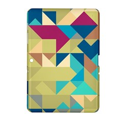 Scattered pieces in retro colors Samsung Galaxy Tab 2 (10.1 ) P5100 Hardshell Case