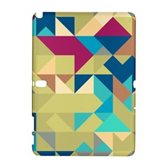 Scattered Pieces In Retro Colors Samsung Galaxy Note 10 1 (p600) Hardshell Case