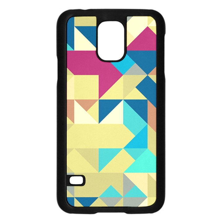 Scattered pieces in retro colors	Samsung Galaxy S5 Case