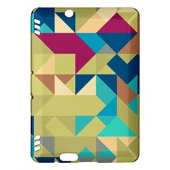 Scattered pieces in retro colors	Kindle Fire HDX Hardshell Case